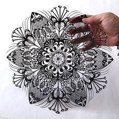 Stunning original Papercut by Mr RIU #PaperCut #PaperArt