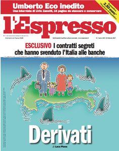 La copertina dell'Espresso in edicola da domenica 12 febbraio