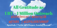 ❣️❣️All Gratitude as 1 RT = 1.1 million outreach ❣️❣️Selim Yeniçeri Sherri Etienne Arsenault K.P.Gopalakrishna ❣️❣️❣️❣️#SocialMedia ❣️❣️❣️