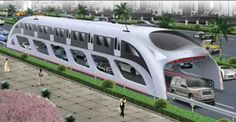China's developing a bus/subway mashup. The elevated bus which drives over other vehicles.  Genius way to ease up traffic.