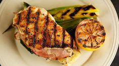 Grilled Chicken Cordon Bleu and Leeks