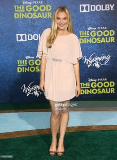 Lauren Taylor arrives at the premiere of Disney-Pixar's 'The Good Dinosaur' on November 17, 2015 in Hollywood, California.