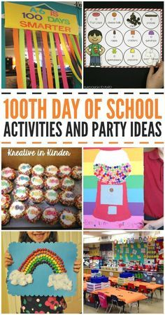 Day of School Ideas Day of School Activities and Party Ideas! These are great for preschool kindergarten and older kids too! Kreative in Life The post Day of School Ideas appeared first on School Ideas. 100th Day Of School Crafts, 100 Day Of School Project, Back To School Crafts, School Projects, School Ideas, School Stuff, Project 100, School School, Public School