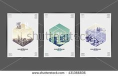 Shutterstock Template design Layout , Brochure , Flyer ,Geometric , vector, Abstract Modern Backgrounds