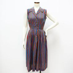 '50s Cotton Gingham Dress, $85, now featured on Fab.