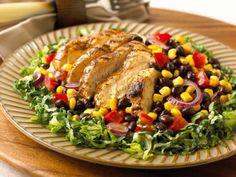 Quelle est la recette de la salade tex mex au poulet à moins de 400 calories ?