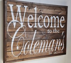 Welcome Sign Last Name Sign Family Established Sign by wavynavy