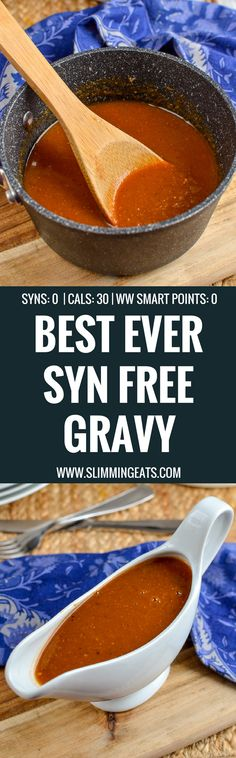 Slimming Eats Syn Free Gravy - gluten free, dairy free, vegetarian, paleo, Slimming World and Weight Watchers friendly Slimming World Dinners, Slimming World Recipes Syn Free, Slimming Eats, Slimming Word, Slimming World Gravy, Sin Gluten, Syn Free Gravy, Whole30, Syn Free Food