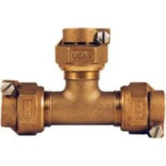 "Legend Valve & Fitting 313-394NL Water Service Tee 3/4"", Copper"