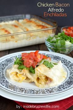 Chicken Bacon Alfredo Enchiladas on MyRecipeMagic.com