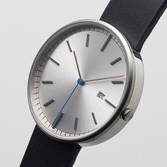 203 Series (brushed/black) watch by Uniform Wares. Available at Dezeen Watch Store: www.dezeenwatchstore.com
