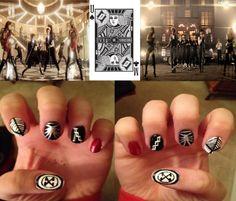 TVXQ Something / Spellbound kpop nail art - Ellisy