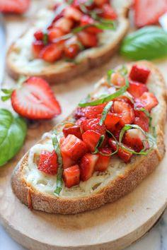 Strawberry Caprese Bruschetta using Star Raspberry Balsamic Glaze #STAROliveOil #STARFineFoods