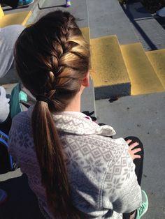 37 ideas braids hairstyles for school popular haircuts Pretty Hairstyles, Girl Hairstyles, Braided Hairstyles, Cheer Hairstyles, French Hairstyles, Wedding Hairstyles, Popular Haircuts, Braided Ponytail, Braid Hair