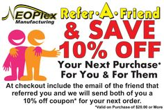 Refer and Save  #Discount #Coupon #ReferAFriend #Neoplex #10%Off