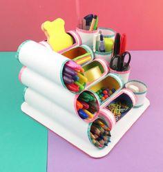 MINI ORGANIZER mit Rollen Toilettenpapier oder Küche – Fotoliste Diy Paper Crafts diy crafts out of toilet paper rolls Kids Crafts, Diy Home Crafts, Teen Girl Crafts, Easy Crafts, Recycler Diy, Diy Para A Casa, Diy Love, Papier Diy, Art Diy