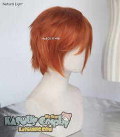 [Kasou Wig] S-1 31cm short burnt orange layered wig, easy to style,Hiperlon fiber