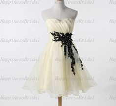 A-line Sweetheart Above the knee Organza Applique Short  Cocktail Dresses Prom Dresses Formal Dresses  Evening Dresses Party Dresses 2013 on Etsy, $77.00