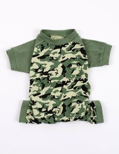 Dog Camouflage Pajamas - camo-green / Large