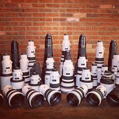 Woah has an insane collection of Telephoto goodness! Tag a photog who would ❤️ this! Photo Equipment, Dslr Photography, Studio Setup, Zoom Lens, Camera Lens, Nikon, Lenses, Awesome, Collection