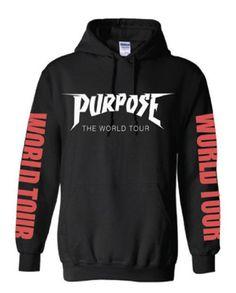 Purpose The World Tour Black Hoodie