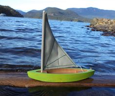 Wooden toy boat/ Sail boat / Boat / Toy / on Etsy, $26.54