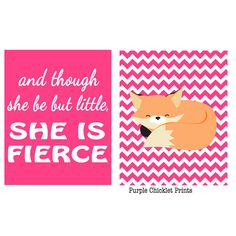 And though She be but little She is Fierce by PurpleChickletPrints