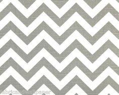 Gray Chevron Fabric Zig Zag Print Curtain Fabric