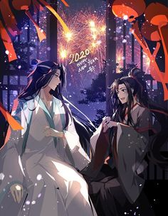 Only before his husband can Lan Zhan smile in truth. Fanart, Great Love Stories, The Grandmaster, Shounen Ai, Manga Characters, Artist Names, Art Pages, Happy New, Anime Guys