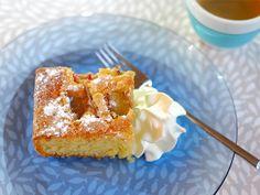 Een snelle en makkelijke rabarbercake