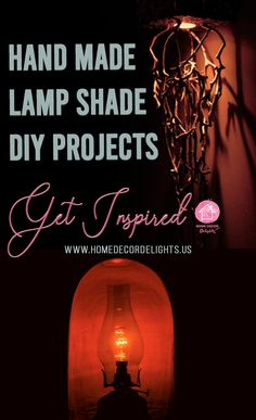 Hand made lamp shade DIY project. #DIY #DIYproject #lamp