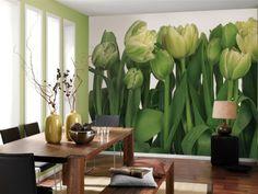 Piękne i nietuzinkowe tulipany nadzą niepowtarzalny charakter Państwa wnętrzu. Połączenie bieli  i zieleni nada harmonii, a jednocześnie ożywi pomieszczenie , w którym będziesz przyjemnie spędzać czas.
