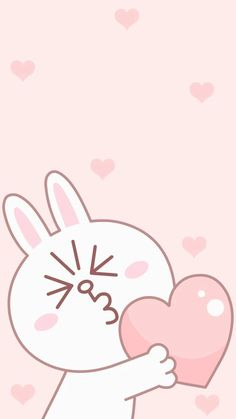 Lines Wallpaper, Pink Wallpaper Iphone, Kawaii Wallpaper, Wallpaper Backgrounds, Iphone Wallpapers, Cute Images For Wallpaper, Cute Cartoon Wallpapers, Line Cony, Melody Hello Kitty