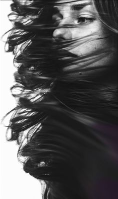Ideas For Photography Portrait Black And White Shutter Speed Movement Photography, Hair Photography, Portrait Photography, Fashion Photography, Artistic Photography, Black And White Portraits, Black White Photos, Black And White Photography, Black And White People
