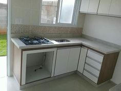 Kitchen Room Design, Home Room Design, Home Decor Kitchen, Interior Design Kitchen, Home Kitchens, House Design, Kitchen Modular, Kitchen Units, Small Apartment Kitchen