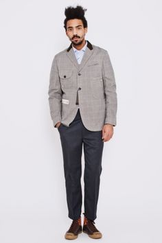 JUNYA WATANABE MAN  Checked Jacket Grey