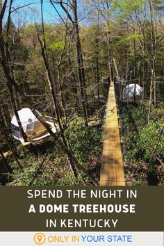 There is no other place like this in the Bluegrass. Sleep under the stars and up in the trees in a dome treehouse in Kentucky within Dome Town. Places In Usa, Great Places, Places To Visit, Stay In A Treehouse, Kentucky Attractions, Most Romantic Places, Beautiful Places, Vacation Places, Vacation Ideas