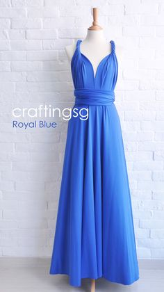 Hey, I found this really awesome Etsy listing at https://www.etsy.com/listing/156043188/bridesmaid-dress-infinity-dress-royal