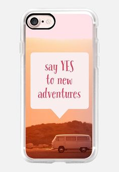 Casetify iPhone 7 Classic Grip Case - Say yes to new adventures by Edward Fielding #Casetify