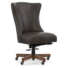 Ensure a stylish and comfortable home office with the Hooker Furniture Lynn Home Leather Office Chair , inspired by French contemporary design. Used Office Chairs, Home Office Chairs, Office Furniture, Thing 1, Executive Chair, Hooker Furniture, 3d Max, Diy Chair, Trends