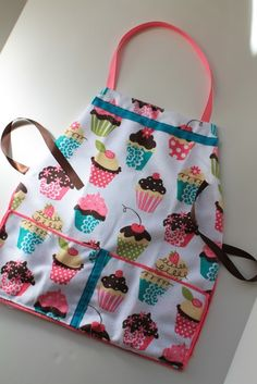 Kids Aprons from Kitchen Towels {from Ever Never Again} my kids would love this when they help me in the kitchen