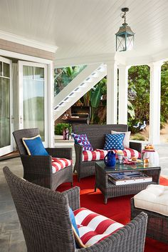 Pier 1 has all the reds, whites, blues, stars and stripes you need to give your back porch a classic all-American makeover. In fact, we have just about every other color and pattern you can imagine in our huge collection of outdoor pillows and cushions. They're all built to stand up to the elements, but they're soft and stylish enough to be at home in your living room, too.