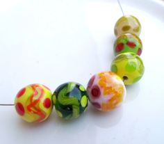Lampwork Beads Playful Handmade Glass Beads by CandanLampworkBeads