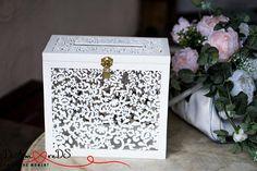 Rose Gold Wedding Card Box with Slot and Lock Wedding Money ...