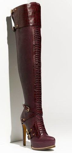 Alligator Boots for Women | Wholesale Women Guetre Thigh-High Alligator Buckle Boots OTK over the ...