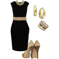 Give your little black dress a new life with a chunky gold ...