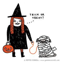gemma correll and her merry band of misfits: hello-ween!