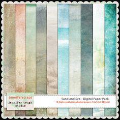 Instant Download  Set of 10 digital papers  Sand by jenniferscraps, $2.99