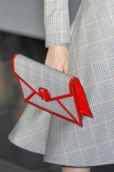 Alexander McQueen- Gray + Red