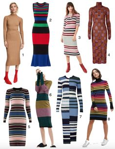 8 Knit Dresses to Make Going to Work in a Sleeping Bag Look Chic • theStyleSafari